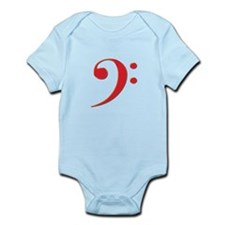 Red Bass Clef Infant Bodysuit