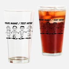 Custom Kids Holding Hands Drinking Glass