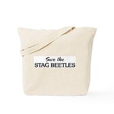 Save the STAG BEETLES Tote Bag
