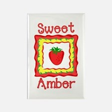 Sweet Amber Rectangle Magnet