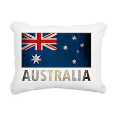 Grungy Australia Flag Rectangular Canvas Pillow