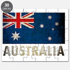 Grungy Australia Flag Puzzle