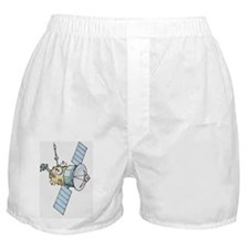 Illustration of space satellite Boxer Shorts