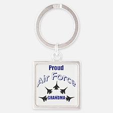 Proud Air Force Grandma Square Keychain