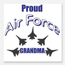 """Proud Air Force Grandma Square Car Magnet 3"""" x 3"""""""