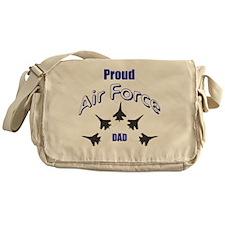 Proud Air Force DAD Messenger Bag