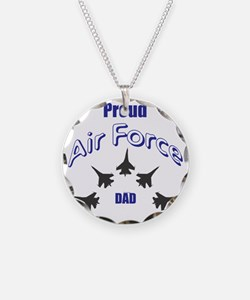 Proud Air Force DAD Necklace