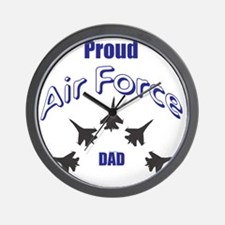 Proud Air Force DAD Wall Clock