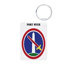 Fort Myer with Text Keychains