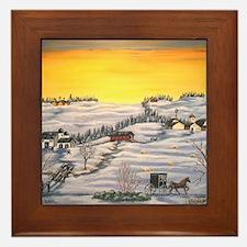 Amish in Lancaster County Pennsylvania Framed Tile