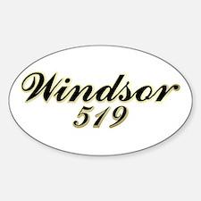 Windsor 519 area code Oval Decal