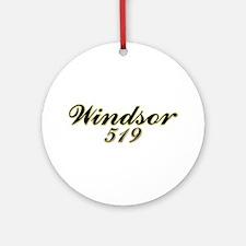 Windsor 519 area code Ornament (Round)