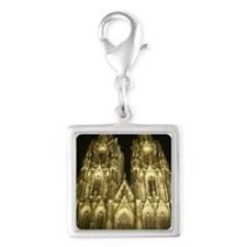 Dom of cologne Silver Square Charm