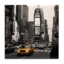 Time Square Taxi Tile Coaster