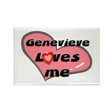 genevieve loves me Rectangle Magnet