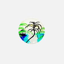 Paradise Ocean View Mini Button