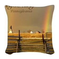 Double Rainbow Woven Throw Pillow