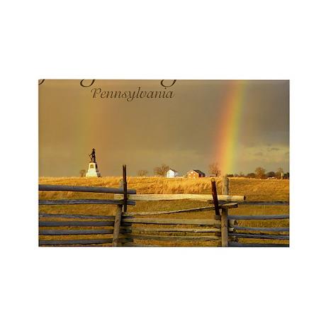 Double Rainbow Rectangle Magnet
