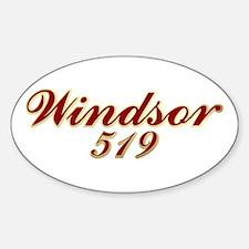 Windsor 519 Oval Decal
