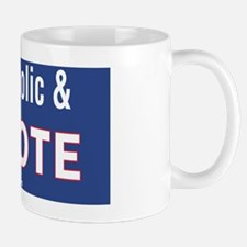 Im Catholic and I Vote Mug