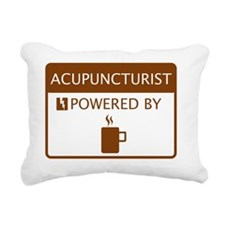 Acupuncturist Powered by Rectangular Canvas Pillow