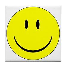 happy face - smiley Tile Coaster