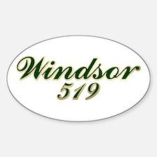 Windsor area code 519 Oval Decal