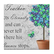 retired teacher blanket Tile Coaster