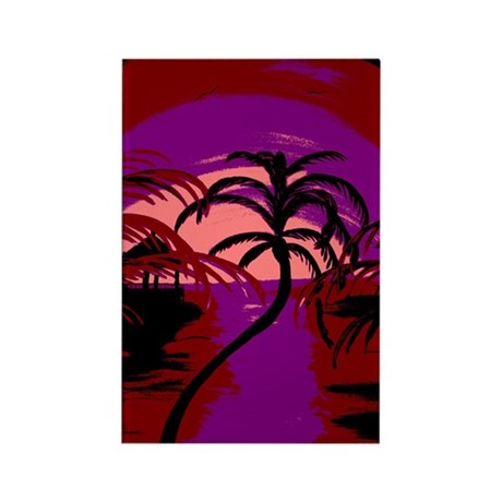 Abstract Beach Rectangle Magnet