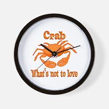 Crab to Love Wall Clock