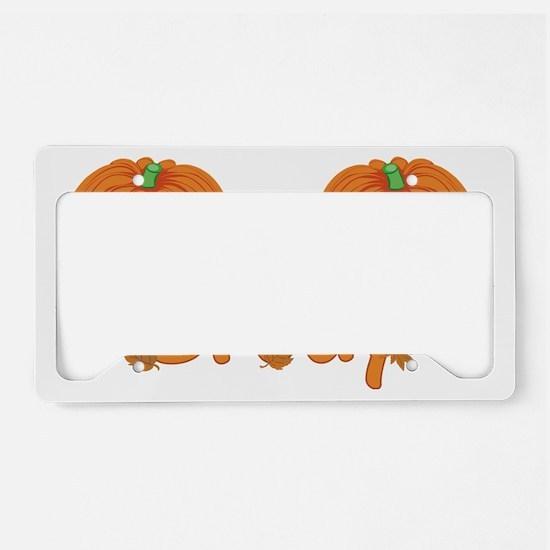 Halloween Pumpkin Brody License Plate Holder