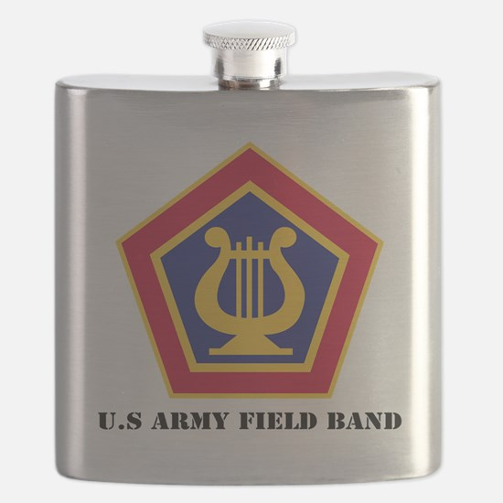 U.S Army Field Band with Text Flask