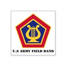 """U.S Army Field Band with Te Square Sticker 3"""" x 3"""""""