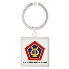 U.S Army Field Band with Text Square Keychain