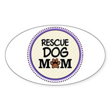 Rescue Dog Mom Decal