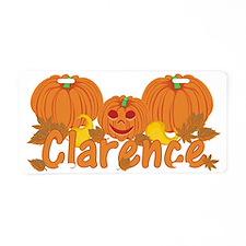 Halloween Pumpkin Clarence Aluminum License Plate