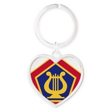U.S Army Field Band Heart Keychain