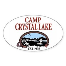 Camp Crystal Lake Oval Bumper Stickers