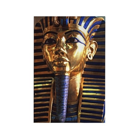 Tutankhamun's mask, Cairo Museum, Rectangle Magnet