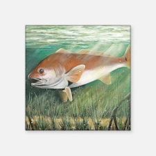"Redfish Square Sticker 3"" x 3"""