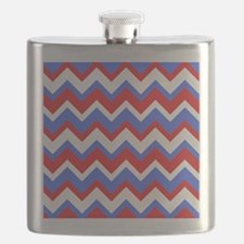 Red White and Blue Chevrons Flask