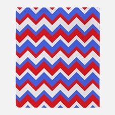 Red White and Blue Chevrons Throw Blanket