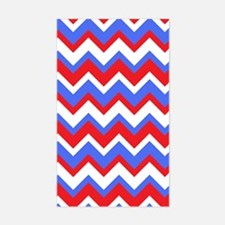 Red White and Blue Chevrons Decal