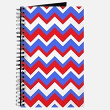 Red White and Blue Chevrons Journal