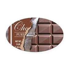 Chocolate Bar Oval Car Magnet