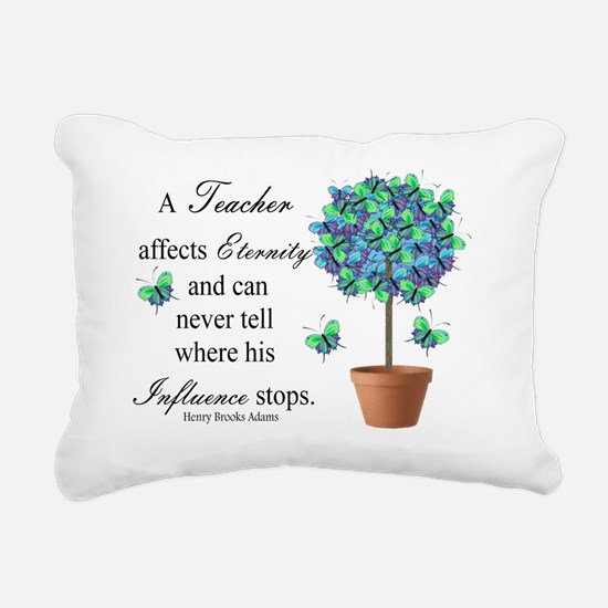 retired teacher quote BU Rectangular Canvas Pillow
