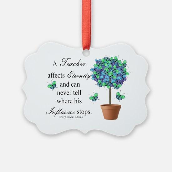 retired teacher quote BUTTERFLIES Ornament