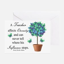 retired teacher quote BUTTERFLIES Greeting Card