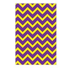 Purple and Gold Chevrons Postcards (Package of 8)