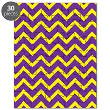 Purple and Gold Chevrons Puzzle